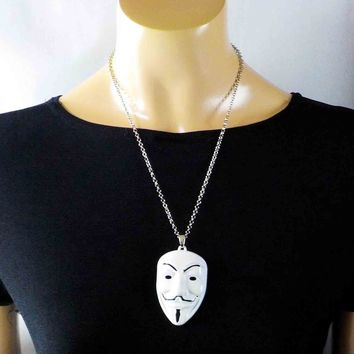 V For Vendetta Mask Pendant