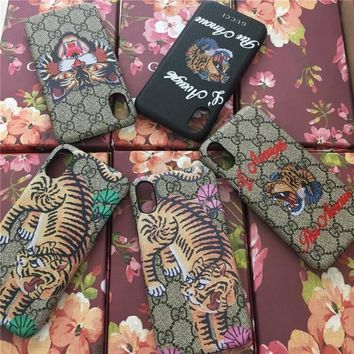 GUCCI Fashion Print iPhone Phone Cover Case For iPhone X-1
