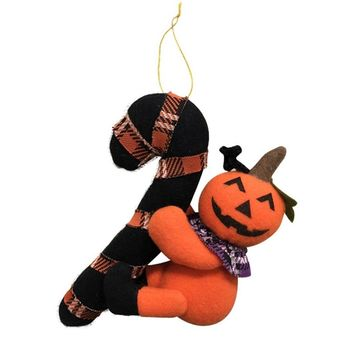 Hanging Doll for Halloween Party Decor Pumpkin Ghost Black Cat Hanging Dolls for Halloween Home Door Decor Party DIY Decorations