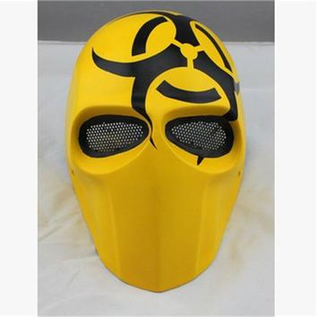 Halloween Horror cos Biochemical Crisis Deathstroke cs Army Planet Wars Fibrous plastic Mask for airsoft paintball Sports Helmet