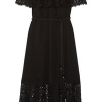 Rachel Zoe - Pila off-the-shoulder lace-trimmed silk-voile maxi dress