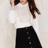 Countess of Monte Cristo Embroidered Blouse