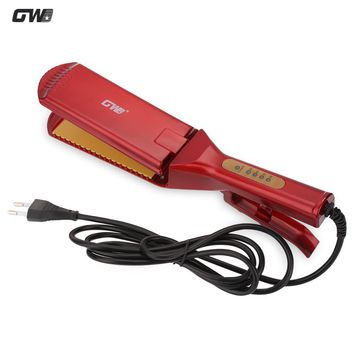 GW Electric Hair Straightener Ceramic Hair Irons Straightening Oversize Flat Iron Styling Tools Professional Hair Curler EU Plug