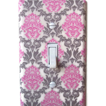 Romantic Chic Damask Single Toggle Switchplate, Switch Plate