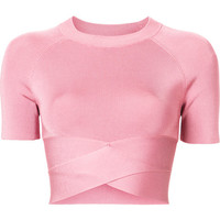 T By Alexander Wang Crop Top With Bandage Effect - Farfetch
