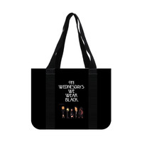 American Horror Story Coven On Wednesdays We Wear Black Cotton Canvas Tote Bag (two sides)