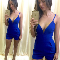 FASHION HOT DEEP V STRAPS ROMPER JUMPSUIT PLAYSUIT