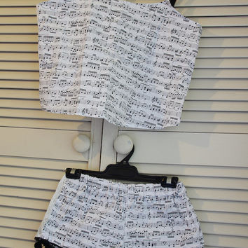 S Musical Mozart ~Women's Sleepwear Shorts and Sleep top ~ Edwardian Lady~Women's Pyjamas, Sleepwear, Bloomers, Boxer Shorts sleep
