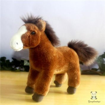 Brown Pony Stuffed Animal Plush Toy 9""