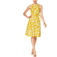 Anne Klein Womens Pleated Floral Print Sundress