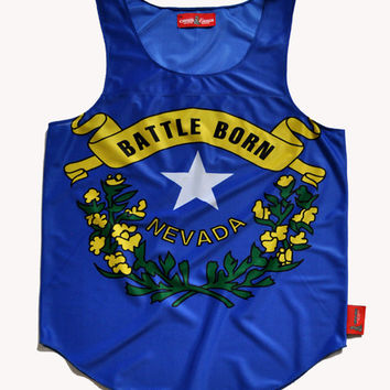 """Nevada """"Silver State"""" Flag Tank Top"""