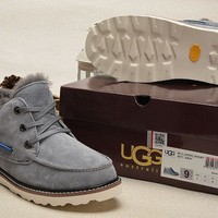 LFMON UGG 5877 Beckham's 2TH Men Fashion Casual Wool Winter Snow Boots Grey