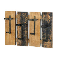 Wood Bottle Rack Wall Decor