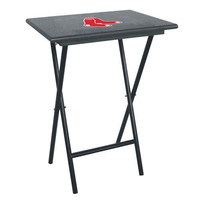 Boston Red Sox MLB TV Tray Set with Rack