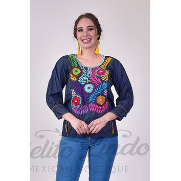 Aketzali Embroidered Top