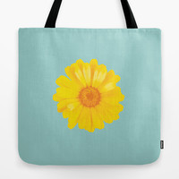 Watercolor Sunny Day flower Tote Bag by Uma Gokhale   Society6