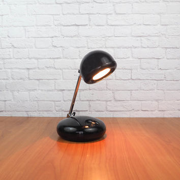Retro Mod TENSOR Eyeball Lamp | Telescoping Desk Lamp, Task Light Black