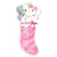 Hello Kitty Sugarplum Fairy - Pink Plush Christmas Stocking