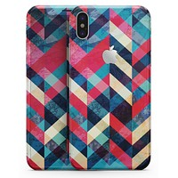 Angled Colored Pattern - iPhone X Skin-Kit