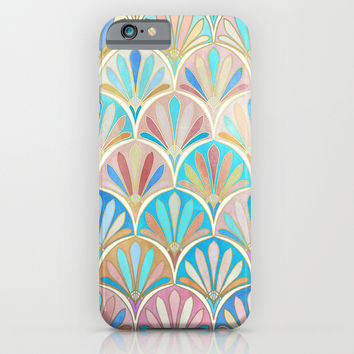 Vintage Twenties Art Deco Pastel Pattern iPhone & iPod Case by Micklyn