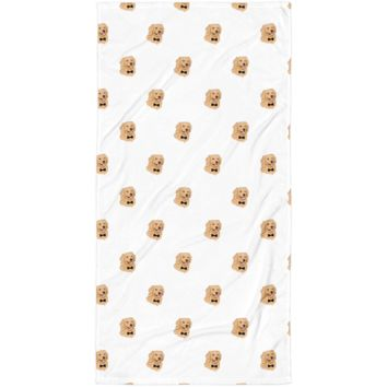 Golden Retriever All-Over Towel | Funny Dog Blanket | The Jazzy Panda