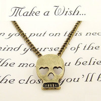 Make A Wish Skull Necklace