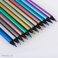 New 12 pcs Metallic Non-toxic Colored Drawing Pencils 12 Colors Drawing Sketching [8072699399]