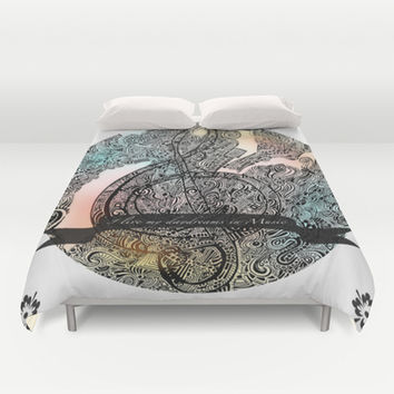 """""""I live my Daydreams in Music"""" Duvet Cover by DuckyB (Brandi)"""
