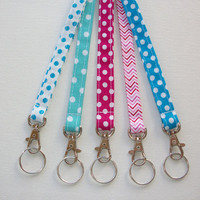 Lanyard ID Badge Holder - NEW THINNER design - Lobster clasp and key ring