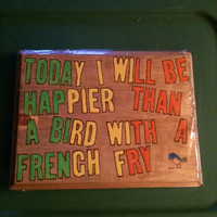 Hand painted funny wall decor