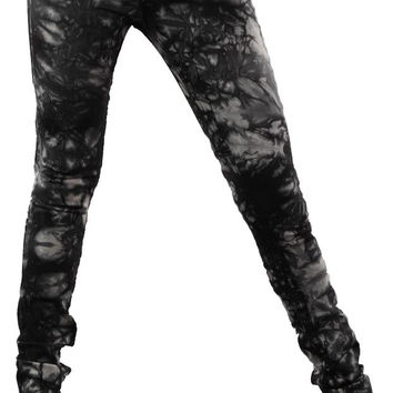 Jet Black Crystal Jeans in Tie Dye