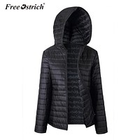 Insulated Zippered Hooded Jacket