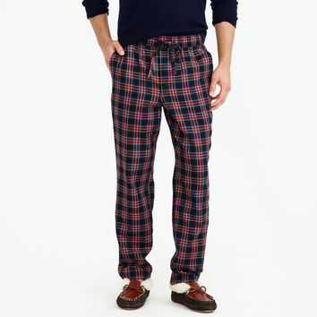 Flannel pajama pant in red and black tartan