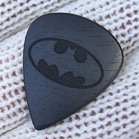 Tribute to the Dark Knight - Handmade Exotic Gabon Ebony Premium Guitar Pick