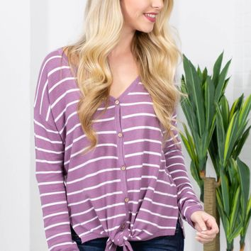 Betty Basic Striped Thermal Top