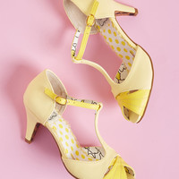 Trademark Gait T-Strap Heel in Yellow