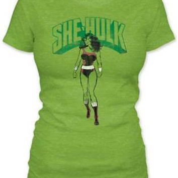 Marvel Comics She-Hulk Shirt - Vintage Green Women's T-Shirt