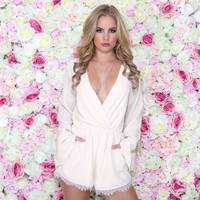 Feel The Love Romper In Ivory