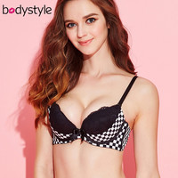 Lace 3/4 Thin Cup Padded Push Up Bra