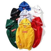 Champion Unisex Embroidery Tops Hoodie Sweater