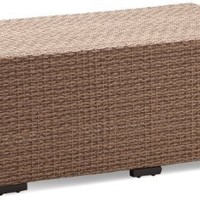 Strathwood Griffen All-Weather Wicker Coffee Table, Natural (Discontinued by Manufacturer)