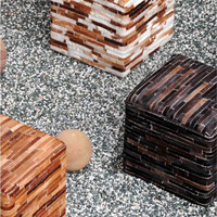 Tiago Cube - Buy Hand Made Leather Cube Online Free Shipping – The Rug Republic