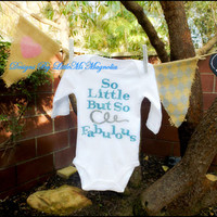 "Baby Girl Onesuit, ""So Fabulous"" Little Girl and Children Clothing"