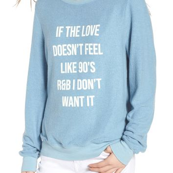 Wildfox '90s R&B Baggy Beach Pullover | Nordstrom