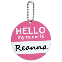 Reanna Hello My Name Is Round ID Card Luggage Tag