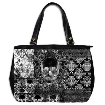 Quilted look Skull Large hand bag