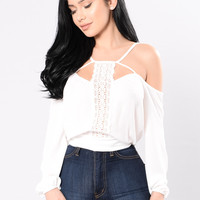 On A Holiday Top - White