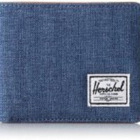 HERSCHEL SUPPLY CO ROY WALLET IN NAVY CROSSHATCH