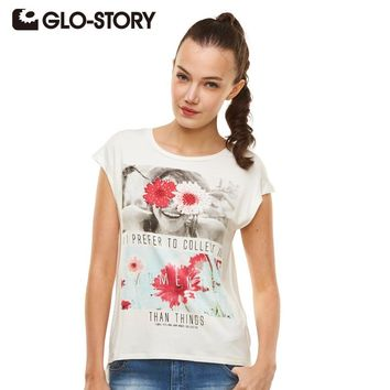 Fashional Summer T shirt Print Short Sleeve O-neck Women Tops Plus Size Casual Female Tee