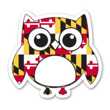 Maryland Flag Owl / Sticker
